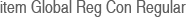 item Global Reg Con Regular
