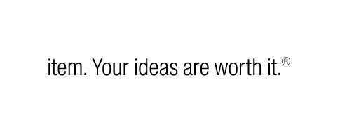 item. Your ideas are worth it. wordmark
